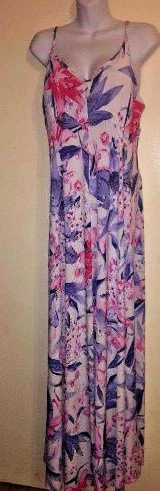 Jennifer Lopez JLO Size Large Multicolor Floral Maxi Summer Sun Dress Halter  #JenniferLopez #Maxi