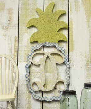 Unfinished Pineapple Initial Wall Art