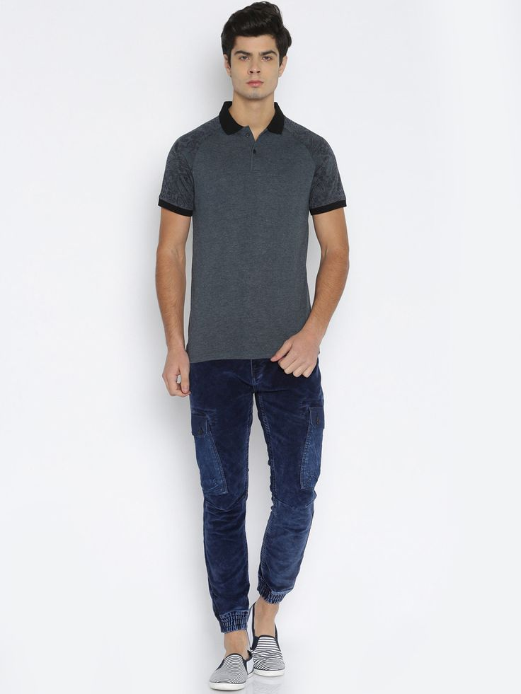 Buy LOCOMOTIVE Men Navy Blue Polo T Shirt -  - Apparel for Men from LOCOMOTIVE at Rs. 949
