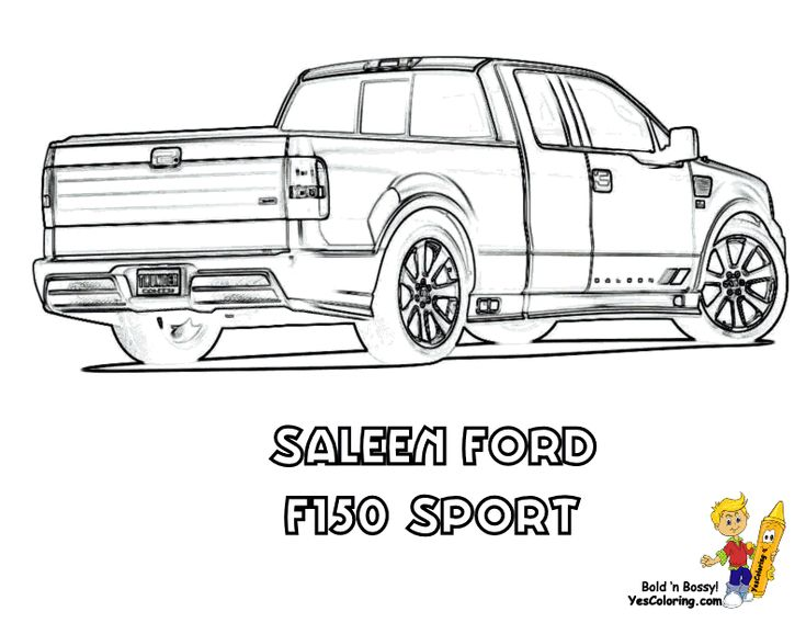 Saleen Ford Truck At YesColoring