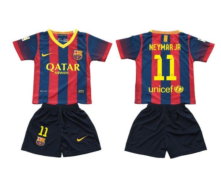 Maillot de football Barcelone Enfant Domicile 2013/2014 Nike Collection(11  Neymar Jr)