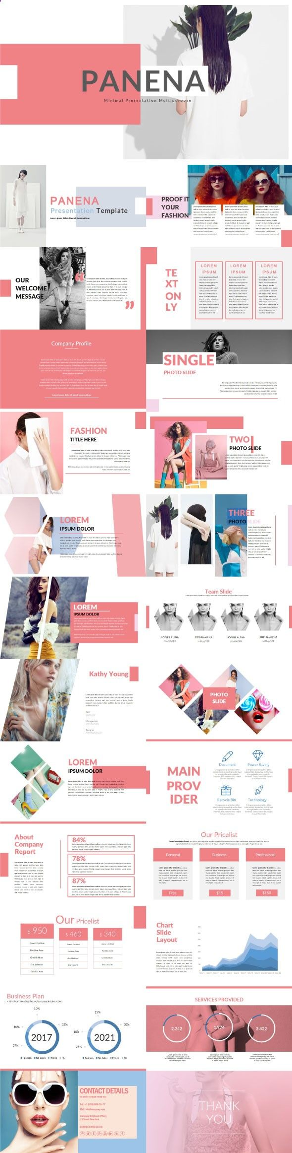 Panena #Multipurpose Template - Creative #PowerPoint #Templates Download here: graphicriver.net/...