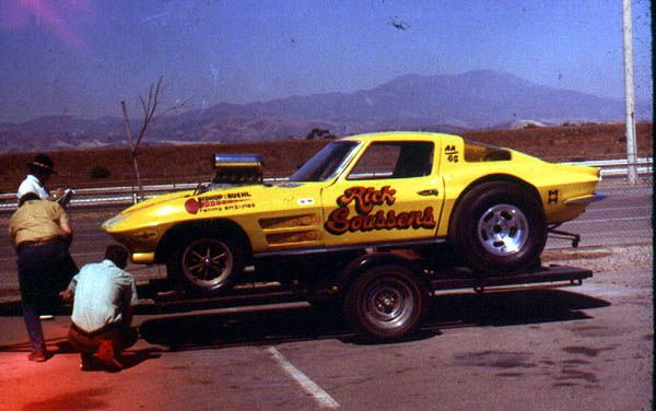 Rick Soussens raced this AA/GS Corvette in the Open Supercharged Gas races of the late sixties in Southern California.: Oldnew Dragrac