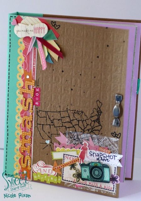 LOVE this Smash book cover by Nicole Rixon of #SweetStampShop