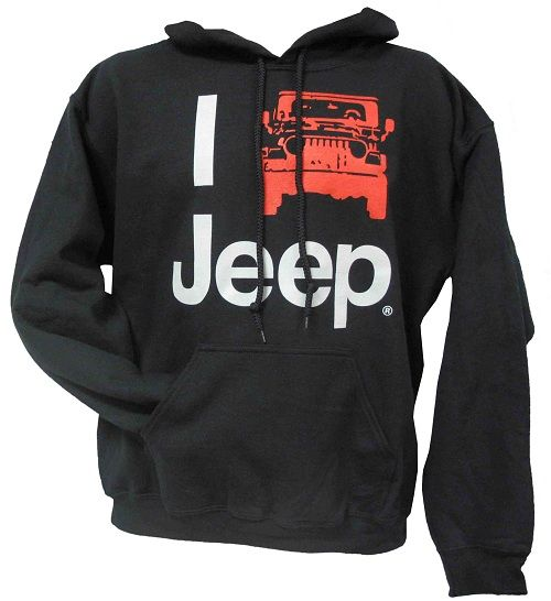 "All Things Jeep - ""I Jeep"" Hooded Sweatshirt, Black"