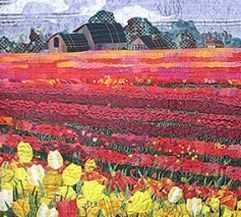 Art Quilts Landscapes | Quilts: # 1 Landscapes & Art Quilts / Quilt of the Skagit Valley Tulip ...