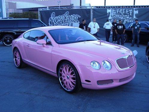 Paris Hilton loves everything pink - including her Bentley: Pink Bently, Paris Hilton, Pink Bentley, Stuff, Drive, Future Car, Dream Cars, Barbie
