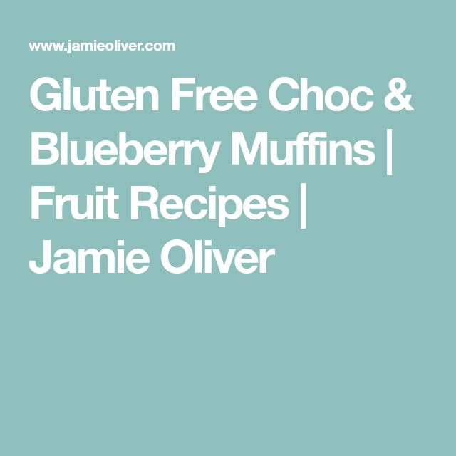 Gluten Free Choc & Blueberry Muffins | Fruit Recipes | Jamie Oliver