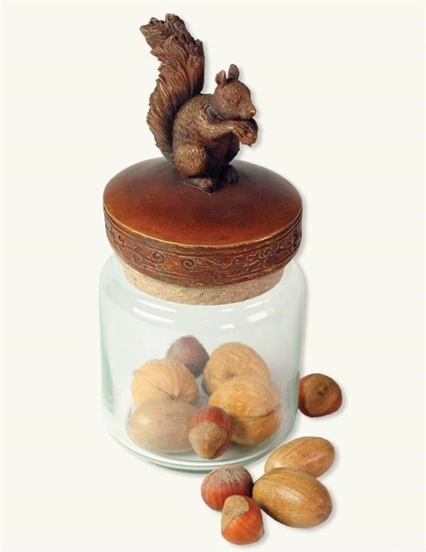 From the Victorian Trading Co Squirrel Glass Canister Candy Nut Jar. Food safe glass jar. Victorian Trading Co. was founded in 1987 by Melissa Rolston. Ornamental resin lid with cork. | eBay!