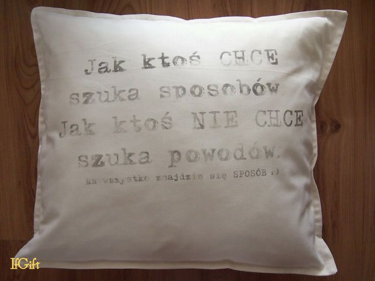 IfGift...: pillow with the inscription