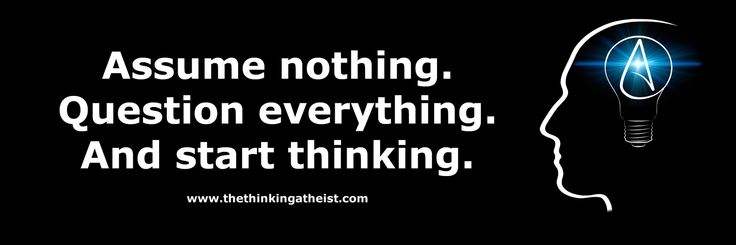 """thinking atheist 