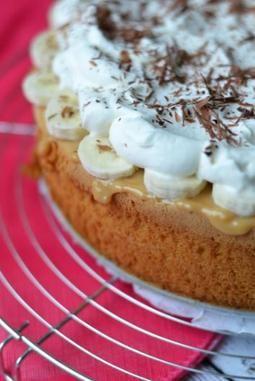 Banaan, slagroom, chocolade en niet te vergeten een heerlijke karamellaag… Ohmyfoodness maakte een Banoffee Pie maar dan net iets anders.. met Wolken Vanille.