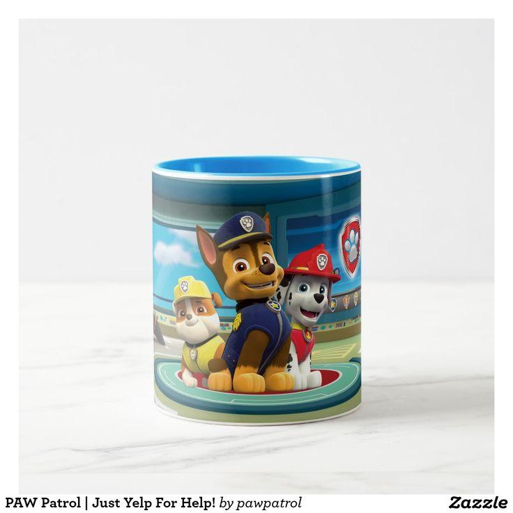 PAW Patrol | Just Yelp For Help! Puppy, dog lover. Regalos, Gifts. Producto disponible en tienda Zazzle. Tazón, desayuno, té, café. Product available in Zazzle store. Bowl, breakfast, tea, coffee. #taza #mug