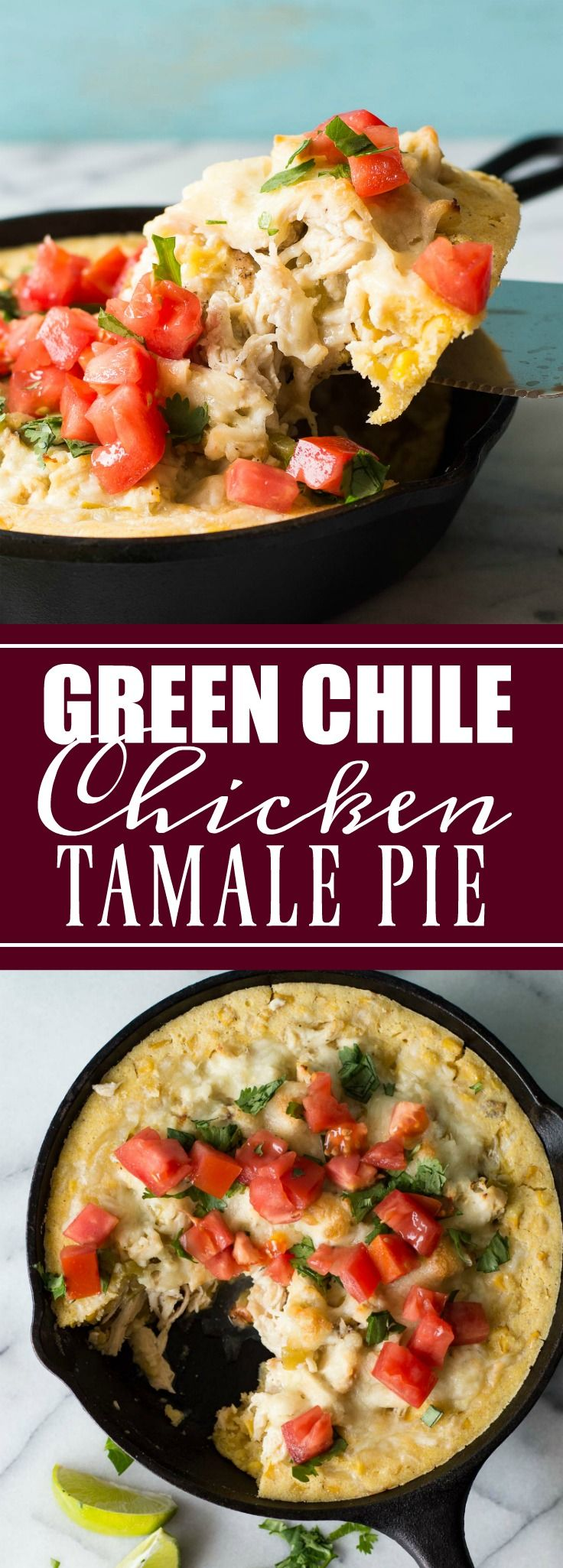 Green Chile Chicken Tamale Pie