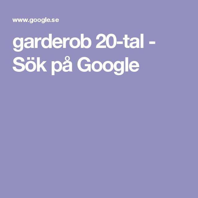 garderob 20-tal - Sök på Google