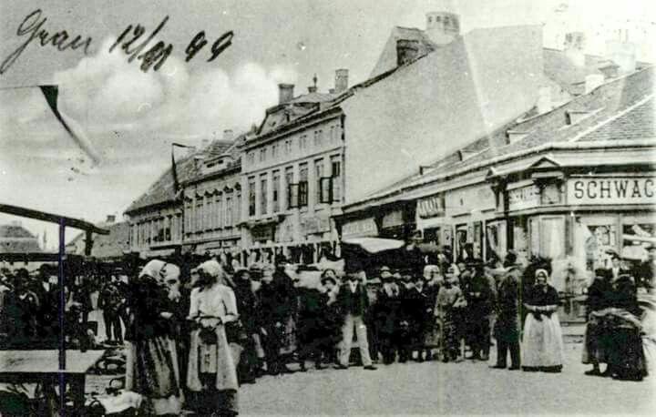 1899. Piac a Rákóczi téren