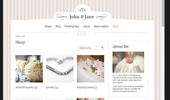 John & Jane,premium wordpress wedding theme!  Features: Responsive & Elegant Design Changeable background color or image Easy to Use Admin Panel Built with LESS CSS and Bootstrap Plenty of Shortcodes Built-in Slider Custom Color   #wordpress  #webdesign  #wedding  #brides  #grooms  http://goo.gl/unGaMr