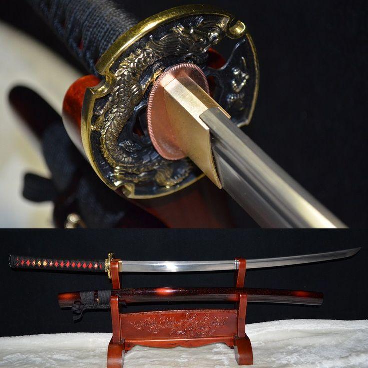 Authentic handmade japanese samurai katana fold steel