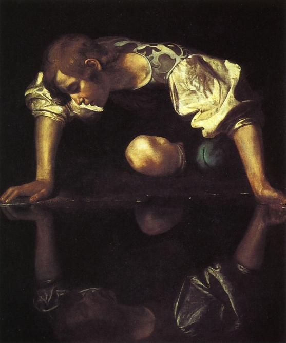 Narcissus, Oil On Canvas by Caravaggio (Michelangelo Merisi) (1571-1610, Italy)