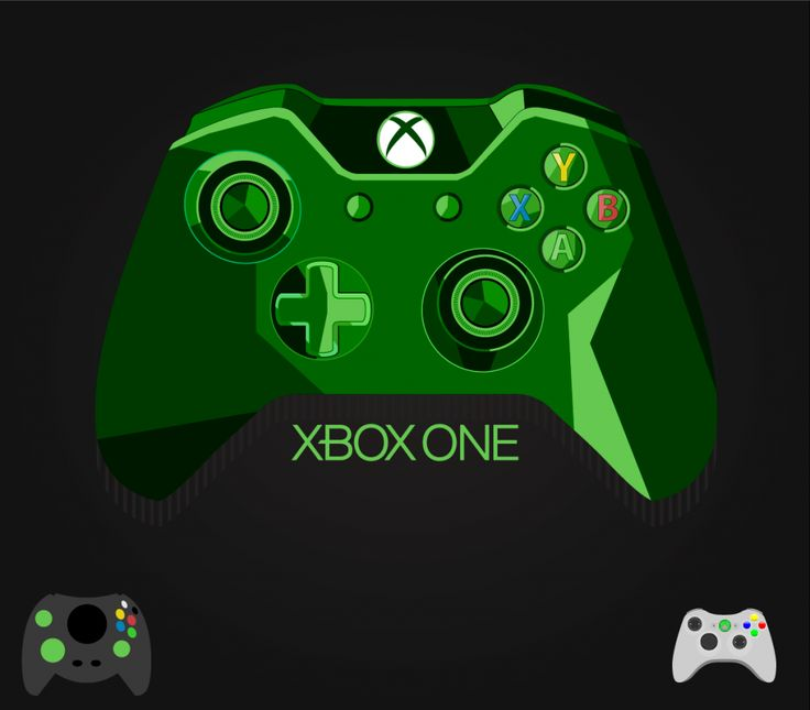 XBOX One Controller Vector Freebie | Free Vectors Xbox One Vector