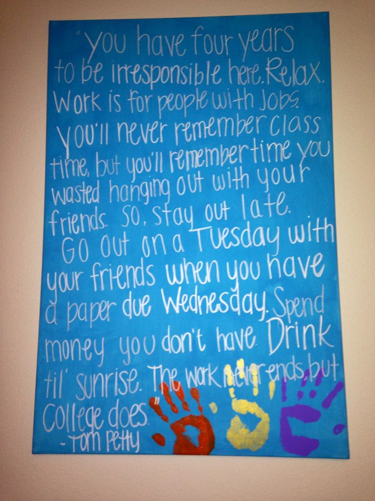 College art and crafts with the roommates!