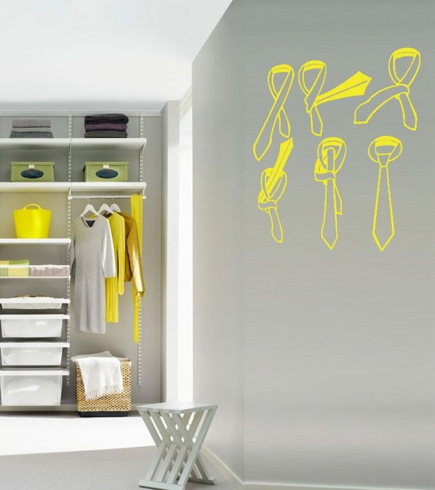 How to tie a tie? Your personal cheatsheet on a wall sticker - must-have for every for wardrobe !