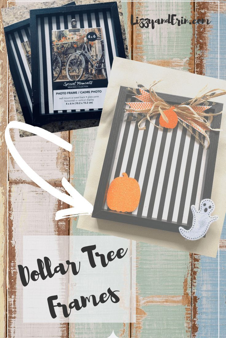 Halloween And Fall 2020 Picture Frames Dollar Tree Frame Upcycled for Halloween in 2020 | Dollar tree diy