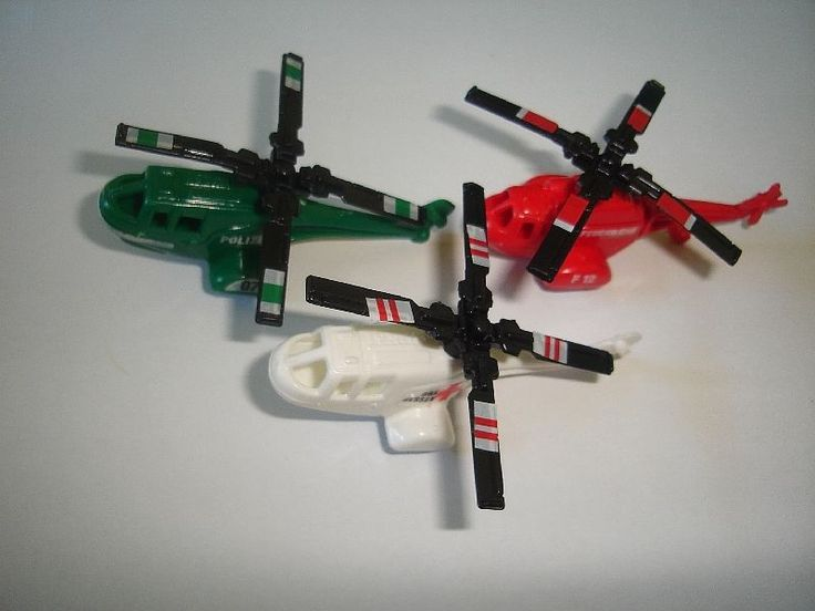 Emergency Helicopters 1993 Model Airplanes Set Kinder Surprise Toys Miniatures | eBay
