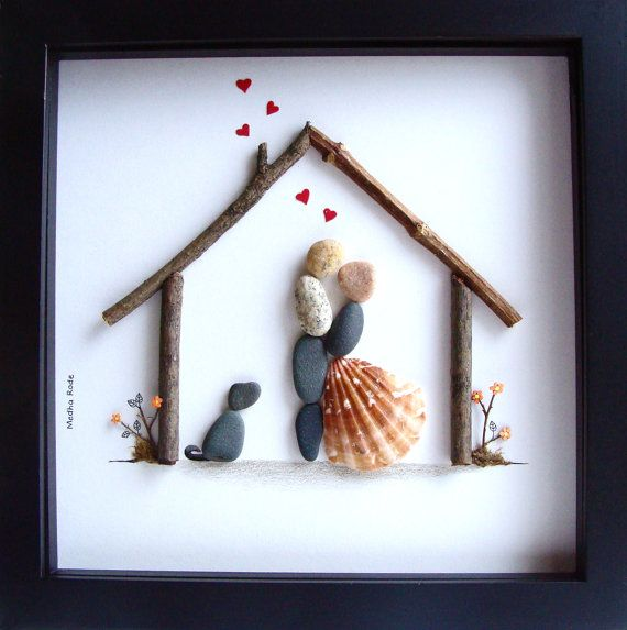 Gifts On Wedding: Unique WEDDING Gift-Customized Wedding Gift-Pebble Art