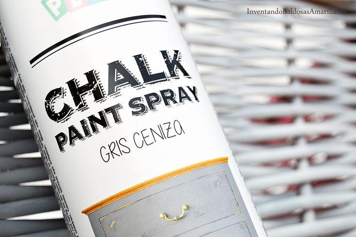 Diy pintura de tiza en spray