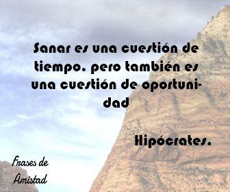 Frases filosoficas de Hipócrates.