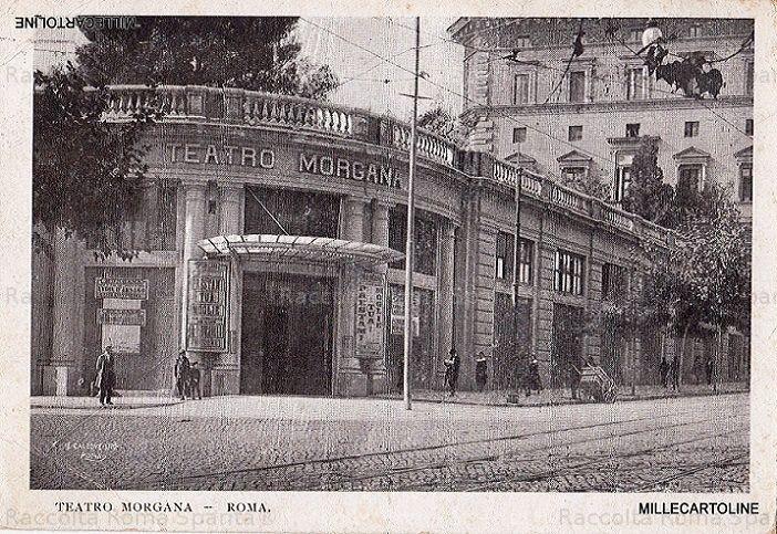 Via Merulana. Teatro Morgana, (odierno Brancaccio) Anno: cartolina viaggiata nel 1928