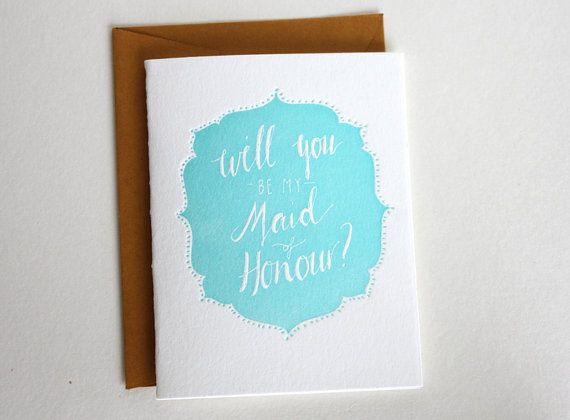 mini letterpress card hand made Will you be my by thelittlepress, $4.00