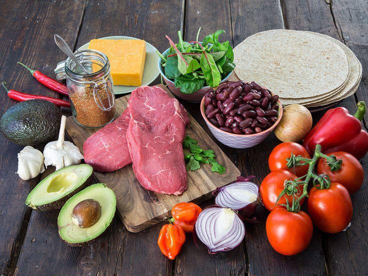 Bifftaco med grov tortilla og chilibønner