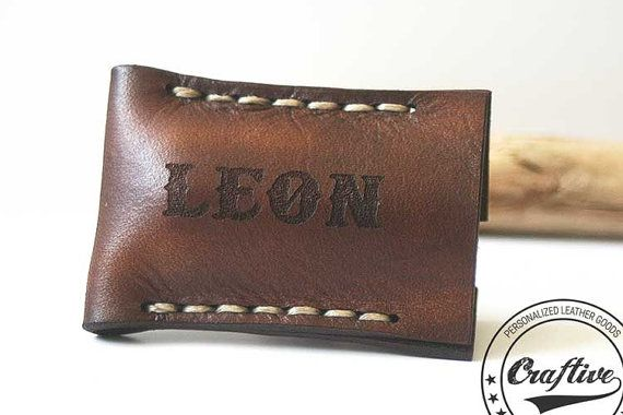 Groomsmen Gifts Leather Safety Razor Cover by CraftiveLeather