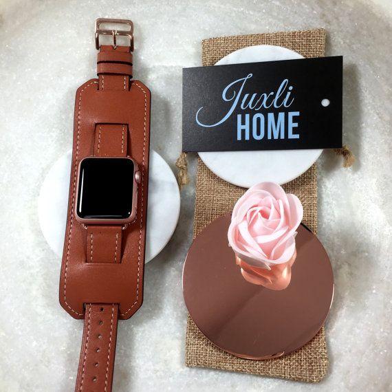 Brown Apple Watch Leather Cuff, Apple Watch Leather Band, Apple Watch Cuff, Brown Watch Strap, Apple Watch Sport, Gold, Rose Gold, Black!!!