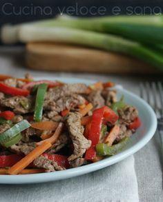 Straccetti di manzo alle verdure | Cucina veloce e sana