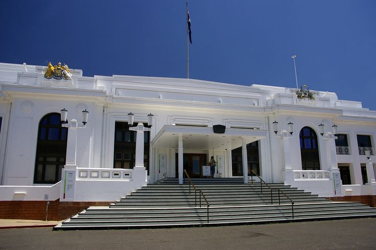 The steps of Old Parliament House Canberra.
