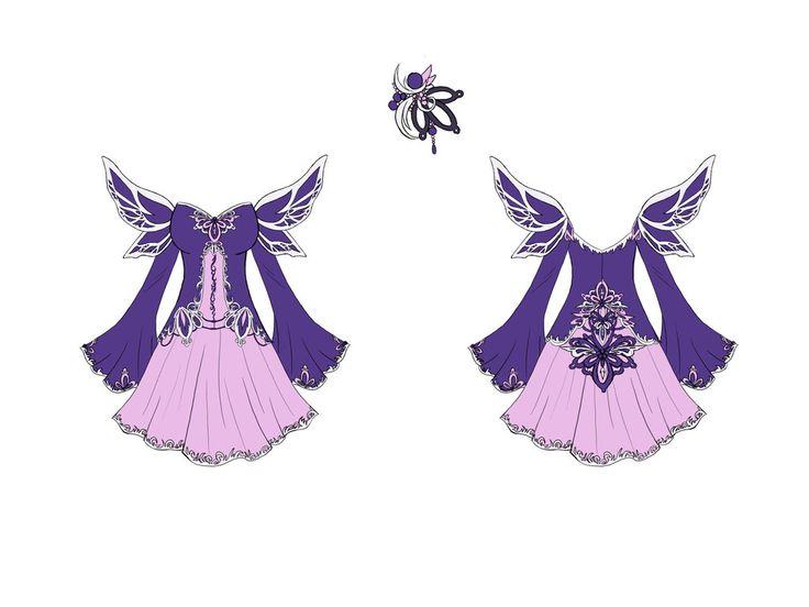 Fallen Angel Dress Design by Eranthe.deviantart.com on @deviantART | Anime design | Pinterest ...