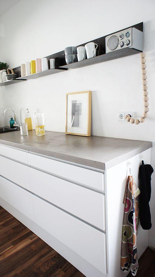 Marmor Kuche Mit Beton Wand Minimalistisch Design   Entwurfcsat   Marmor  Kuche Mit Beton Wand Minimalistisch