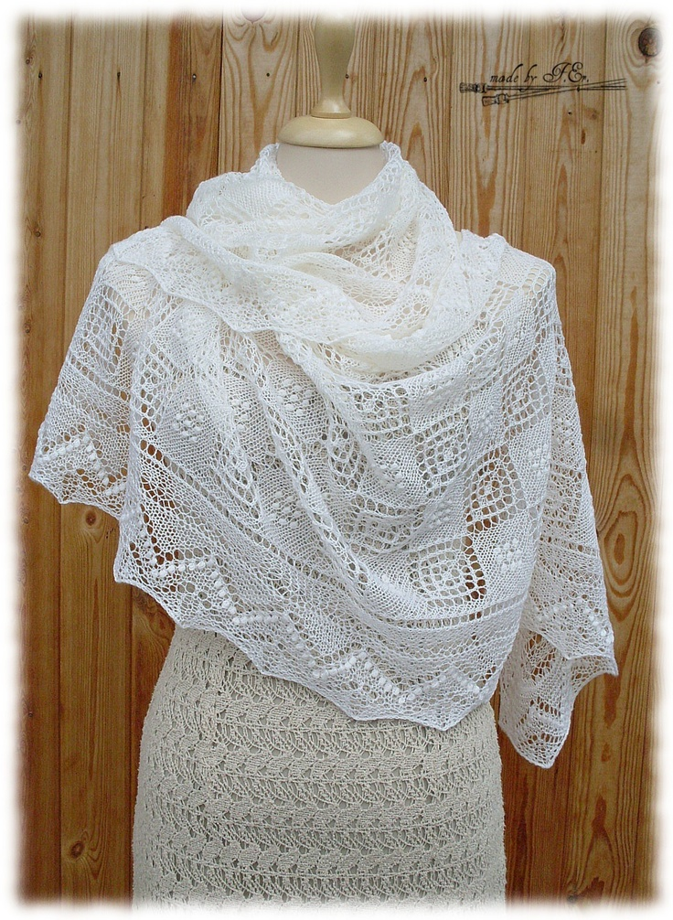 Knitting Shawl : Best images about knitted lace shawls on pinterest