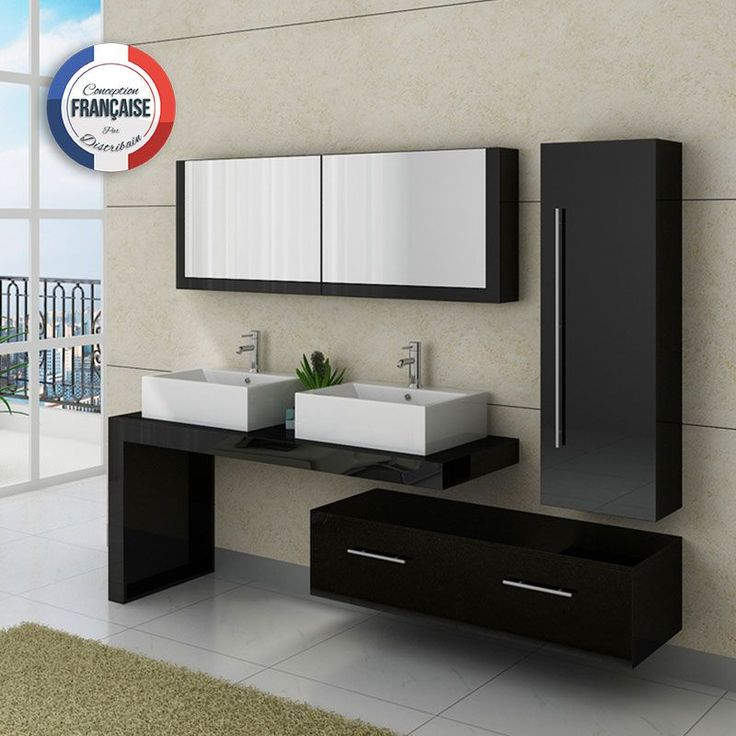 17 meilleures id es propos de salles de bain noires sur for Salle de bain noir et turquoise