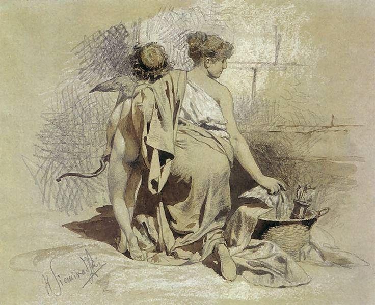 Henryk Siemiradzki - Woman with Amours, 1880