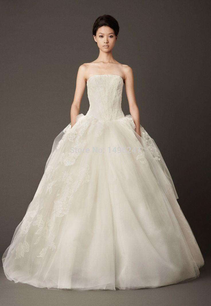 Изящные аппликации кружева принцесса свадебные платья спинки без бретелек свадебные платья белые длинные свадебные платья vestido де noiva