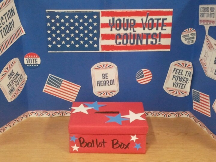 The voting booth for students.