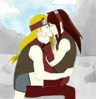 Deidara and Soarin Iwagakure no Ai. Young love kiss