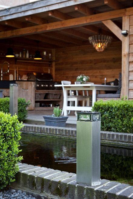 Snoerloze tuinverlichting op zonne-energie. Dutch Design van Gacoli #buitenkeuken #tuin #buitenverlichting