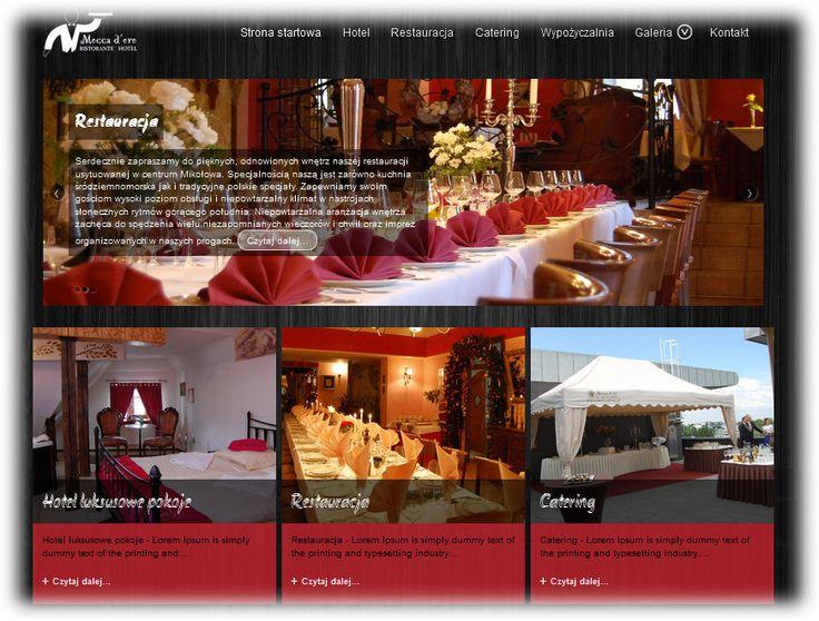 Przygotowuję stronę www dla restauracji Moccadoro w Mikołowie. To stylowa restauracja i kameralny hotel myślę że jeden z najbardziej klimatycznych w Mikołowie. Tak wygląda wstępny projekt strony www. Założenia: - Internetowa mobilna strona www na...