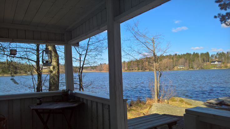 Spring is arriving slowly this year in Finland. Sauna guests were brave swimming in the lake today ! Beautiful day but still cool for the month of May.