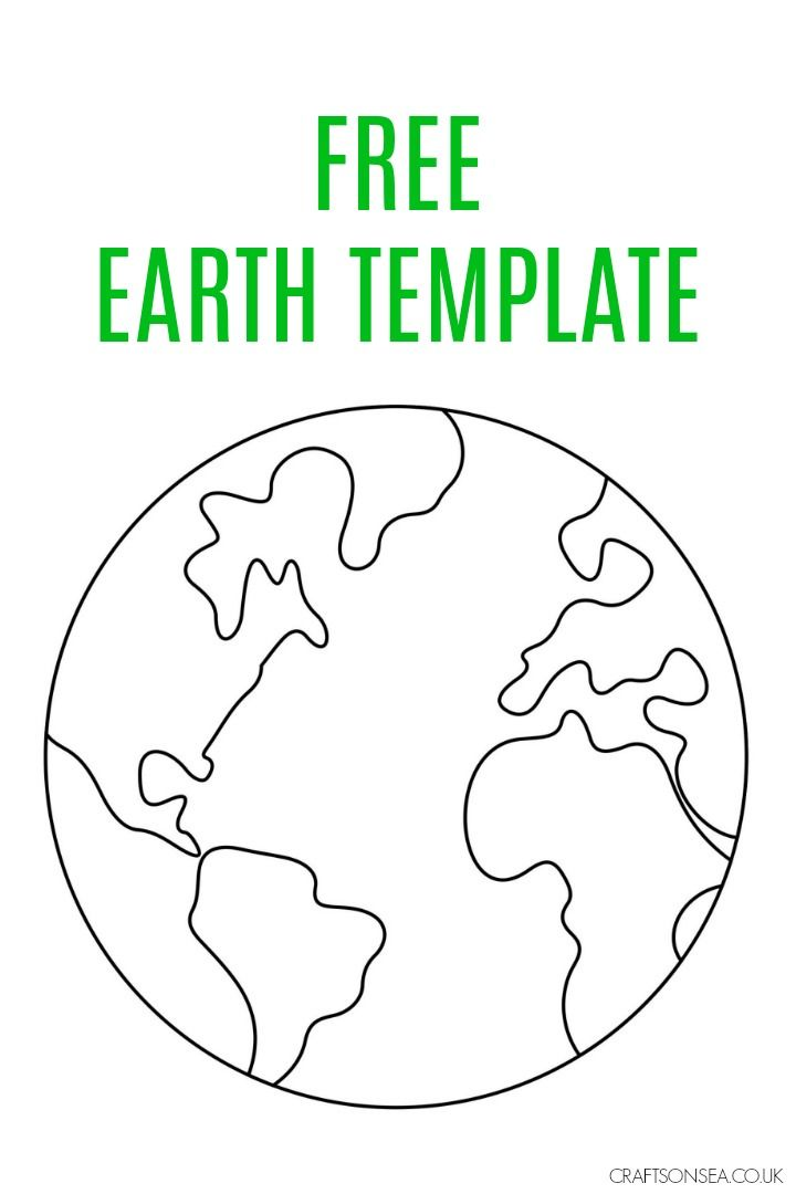 Free Printable Earth Template With Images Earth Day Projects